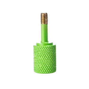 Green-Painted, Knurled Thumb Screw (Lighting Technology)